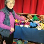 Eve taking a look at the Toy stall
