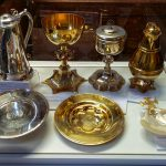 The various articles for communion and baptism