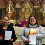 Nicola and Andrea with their confirmation certificates