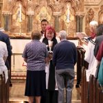 Rachel's first blessing of the collection at St Mark's