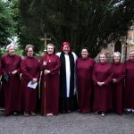The ladies of St Mark's choir pose with the new vicar