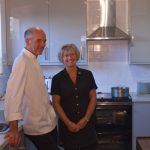 The owners of Lanes, in our newly refurbished Community Hall kitchen!