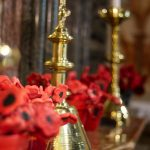 Clay poppies on the altar