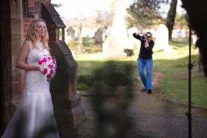 Helen Renouf demonstrates how to photograph a bride.