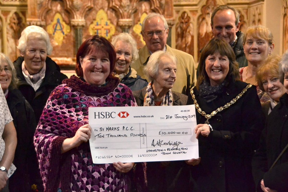St Mark's, presented with a donation towards the Community Hall