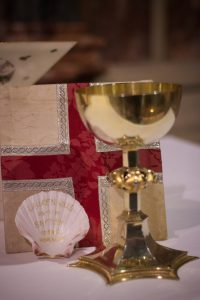 The shell that was used to baptise Lauren during our afternoon service