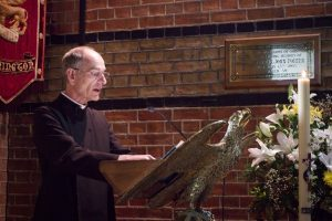 Peter Salisbury of St Thomas and All Saints, Lymington reads the Gospel for the day